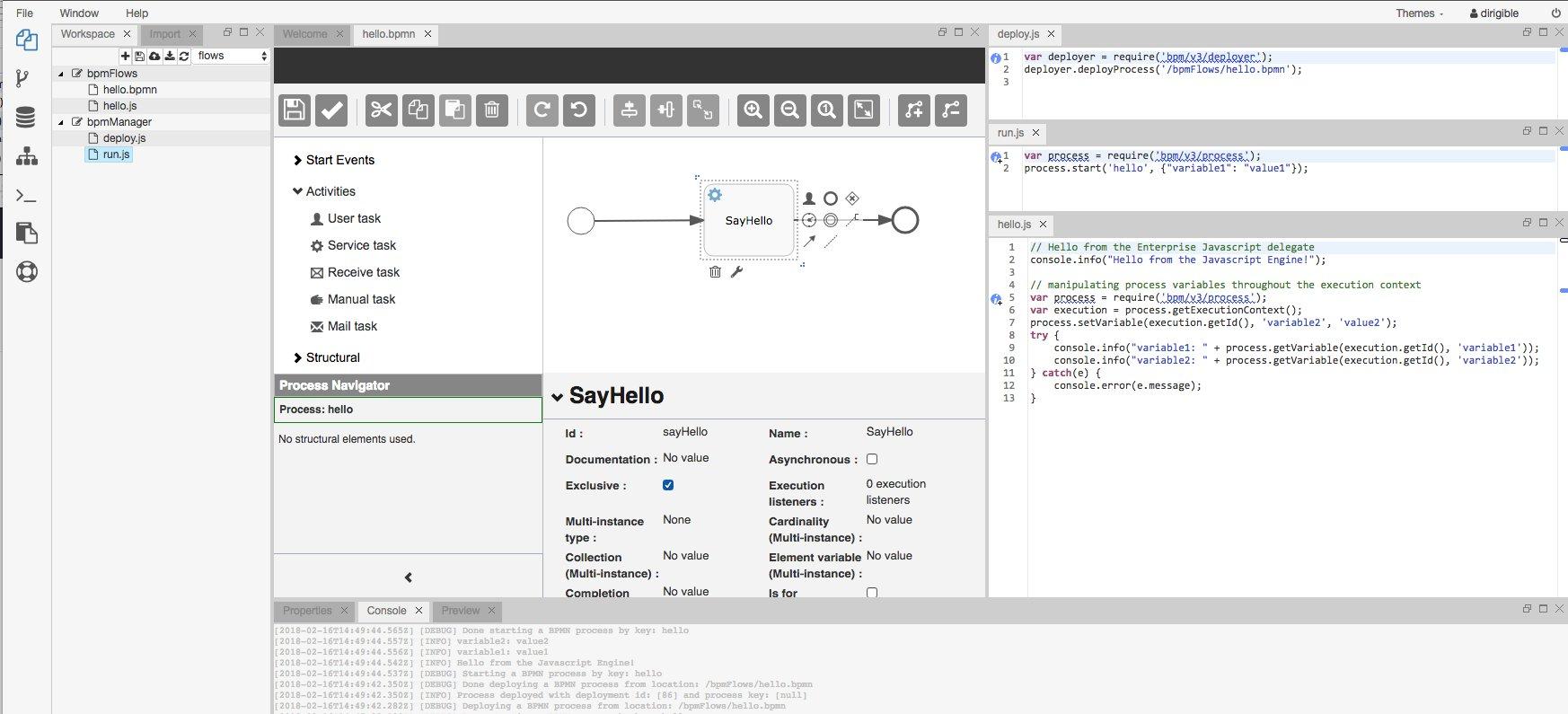 Eclipse Dirigible | Cloud Development Platform