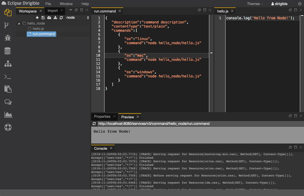 Eclipse Dirigible   Cloud Development Platform